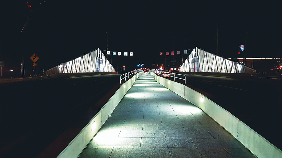 Jimmy Carter Bridge Walkway Lighting